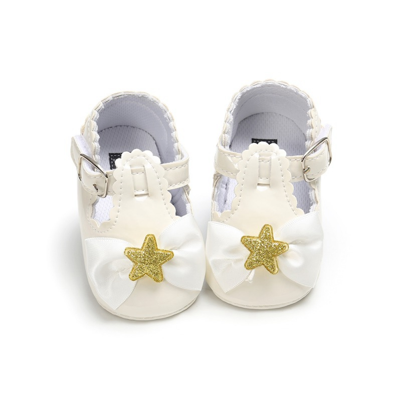 Baby Girl Shoes Cute Bow Princess Shoes Stars Soft Bottom Toddler Girls Shoes First Walkers Children Casual Shoes