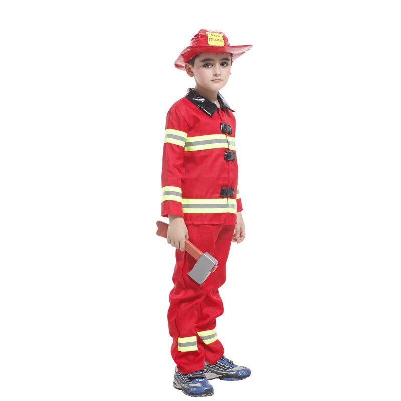 Kids Cosplay Sam Fireman Clothes Costume Firefighter Halloween
