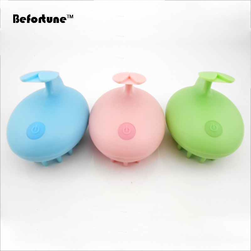 Colorful Best Selling Electric Hair Care Rabbit Scalp Massager Shampoo Brush BF6004