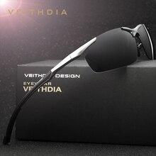 Мужские Винтажные Солнцезащитные очки VEITHDIA, брендовые дизайнерские очки с поляризационными стеклами, модель 6592 года