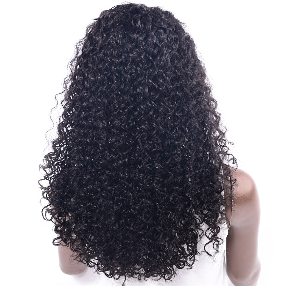 CHOCOLATE Remy Lace Front Human Hair Wigs Brazilian Long Curly Hair Wigs 165g Swiss Lace Part Handmade for Black Women 18inch