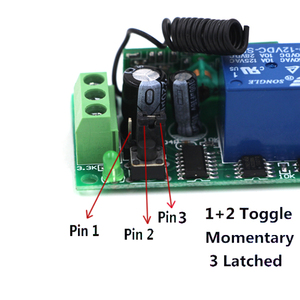 Image 3 - 315Mhz 433Mhz Wireless Remote Control Light Switch 10A Relay Output Radio 9V 24V 1 Channel Receiver Module Transmitter