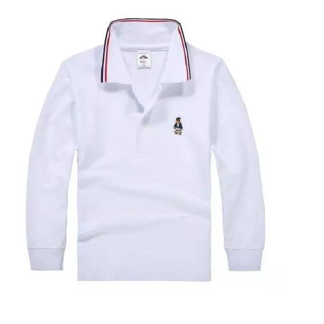 ef867e033a Top quality crianças menino camisas pólo uniforme escolar camisa meninos t  camisa de algodão de manga