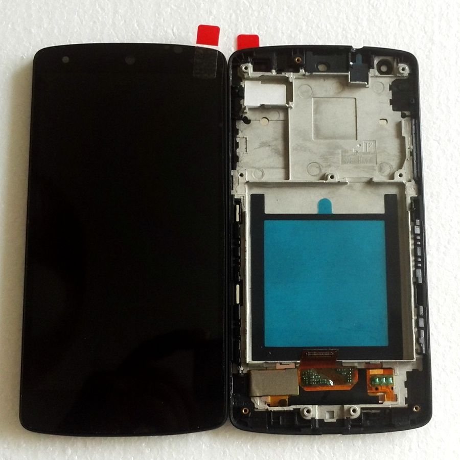 For Lg Google Nexus 5 D820 D821 LCD Screen Display Touch Glass Digitizer Frame Full together replacement Pantalla free shipping