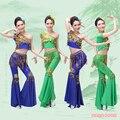 Disfraces Недвижимость Хмонг Одежда 2016 Новый Эластичный Китайского Народного Танца Дай Костюм Павлин Одежда Меньшинств Bichunmoo Вьетнам Дуньхуан