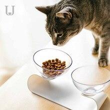 Youpin ürdün & Judy Pet çift kase kediler köpekler evrensel eğimli çift kase küçük köpek maması kasesi