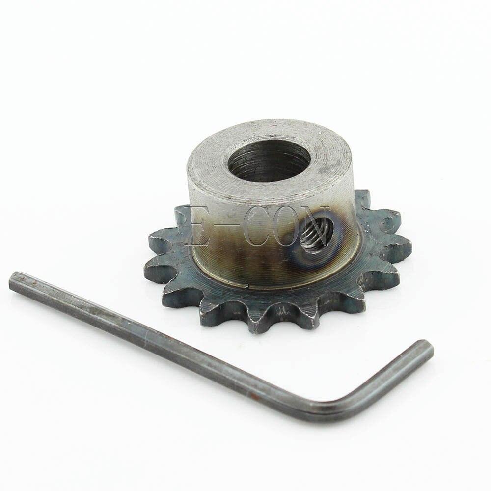 1pcs 15mm Bore 15 Teeth 15T Metal Pilot Motor Gear Roller Chain Drive Sprocket