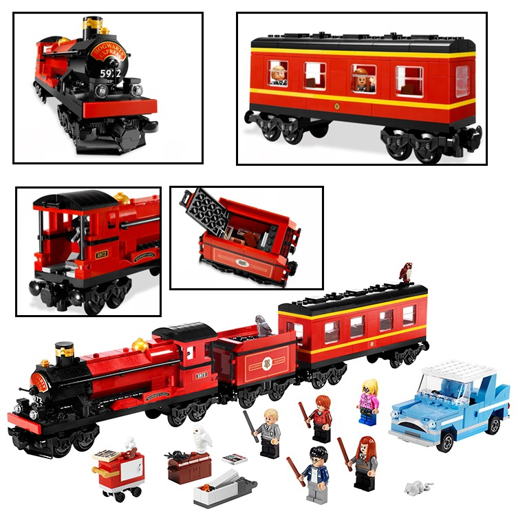 The Hogwarts Express Harry Potter Series Movie Hermione Ron Building Blocks Toys Children Compatible LegoinglyModel Building K