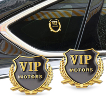 4 Pieces Car-Styling VIP Car Metal Stickers For BMW Audi Opel Hyundai Peugeot Ford Nissan Mazda Chevrolet Benz Accessories rivertoys audi o009oo vip