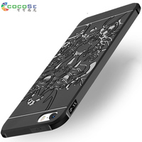 COCOSE For Iphone 5s Phone Cases 3D Carved Dragon Phone Shell Ultra Thin Matte Silicone Smartphone