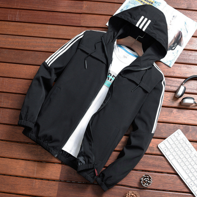 Spring autumn dropshipping jacket casual Hand Flowers Men windbreaker night shiny hip hop harajuku streetwear hooded coat