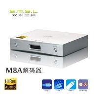 Горячая Распродажа  звуковой декодер SMSL M8A HIFI DSD512/768 кГц  усилитель получает XCroe200 Xu208 + ES9028Q2M коаксиальный/XMOS асинхронный