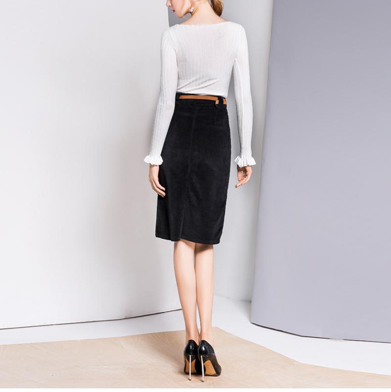 9a00658f966 Detail Feedback Questions about LXUNYI 2019 Autumn Corduroy Skirt ...