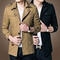 2017 moda hombre marca clothing, ejército Diseño Ocasionales de Los Hombres de la Cremallera Chaquetas, Otoño Calidad hombres Camiseta Slim Fit Coats envío gratis