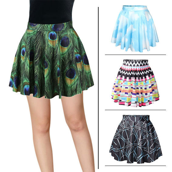 7ff0bba64776f US $9.99 |New Fashion CUTE printed design skirts for women pleated skirts  cartoon 3D printed Skirt animals/skulls plus size-in Skirts from Women's ...