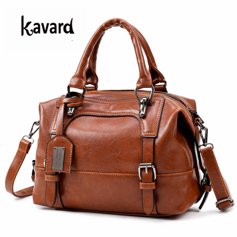 Us 18 88 50 Off Wax Oil Leather Bag Las Hand Bags Women Handbag Designer High Quality Woman Famous Brand Sac A Main In