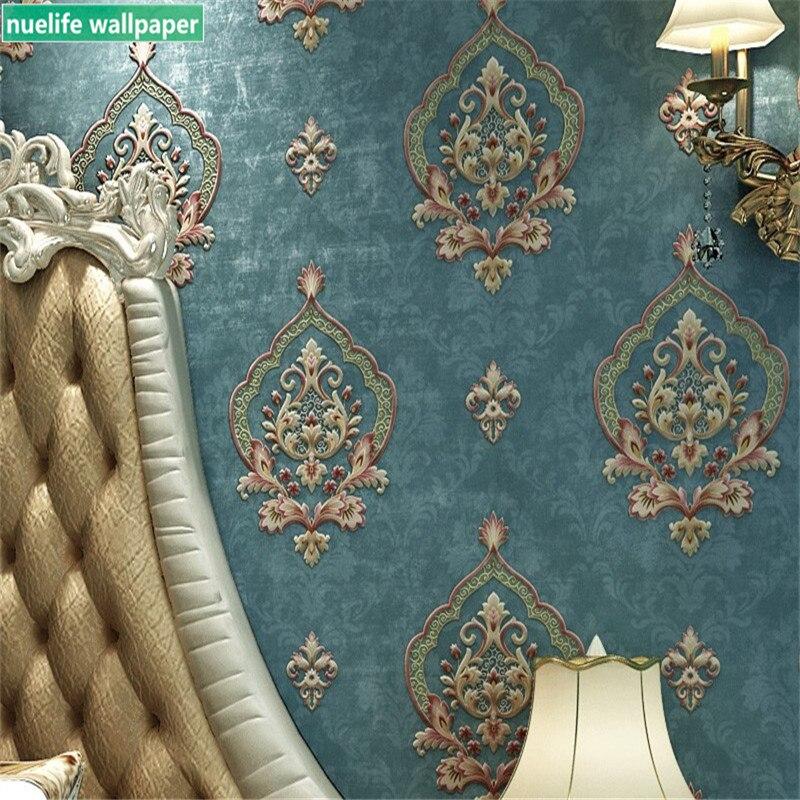 0.53x10m Vintage motif européen non-tissé papier peint chambre hôtel salle de mariage salon fond papier peint
