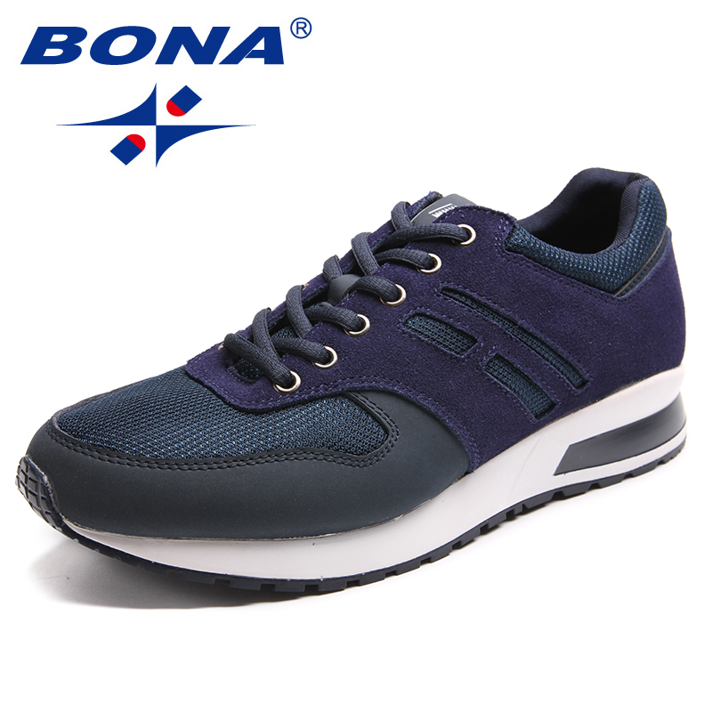 BONA New Classics Style Men Running Shoes Lace up Men Sport Shoes Suede Mesh Outdoor Jogging Sneakers Light Fast Free ShippingBONA New Classics Style Men Running Shoes Lace up Men Sport Shoes Suede Mesh Outdoor Jogging Sneakers Light Fast Free Shipping