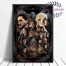 Game of Thrones Jon Snow Daenerys Movie Art Canvas Poster Print Home Wall Decor No Frame(China)