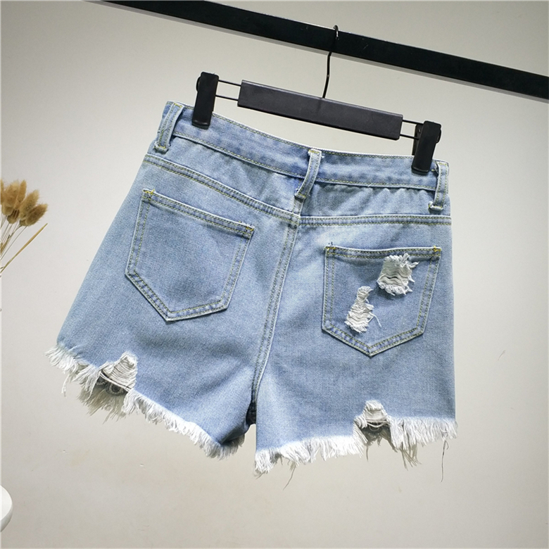Jeans B2458 New Style Spring And Summer 2019 Students Lace Embroidered Women Loose Wide Leg Hot Denim Shorts Cheap Wholesale