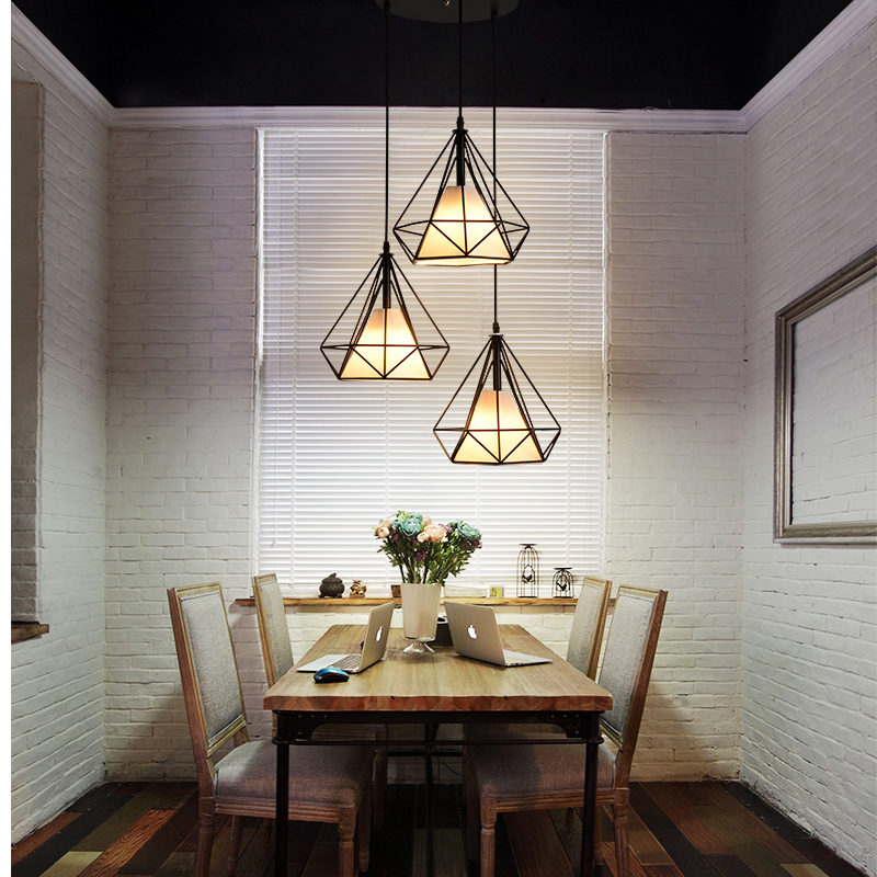 Vintage Industrial Pendant Light E27 Edison Lamp Nordic Retro Light  Lampshade Loft Lights Metal Cage Dining Room Countryside In Pendant Lights  From Lights ...