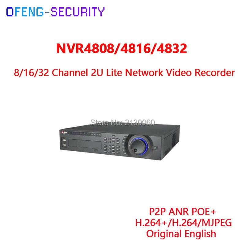 original Dahua NVR NVR4832 Recorder 32Ch NVR Recorder 2U Lite 8HDD Network Video Recorder Alarm 8/16/32 Channel 2U Lite Network dahua 32ch nvr 16 poe 2u case 8 sata 1080p 200mbps gigabit rj45 android ios