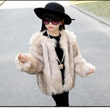 2016Children Faux Fur Coat Baby Girls Autumn Winter Warm Short  Full Solid Coat Clothes Kids Faux Fur Coats Thick Fur Outerwear