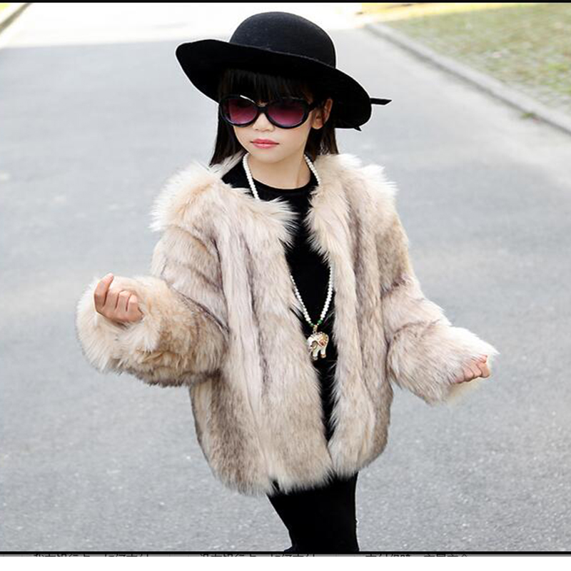 Girls Black Coat With Fur
