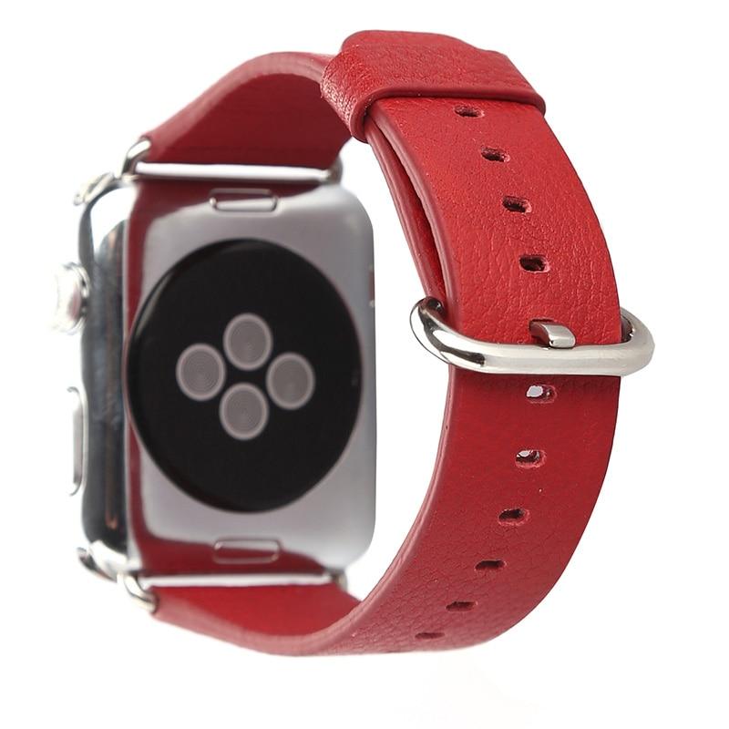 FOHUAS loomanahast ehtsast nahast rihmaga vöötlint Apple Watchi - Kellade tarvikud - Foto 3