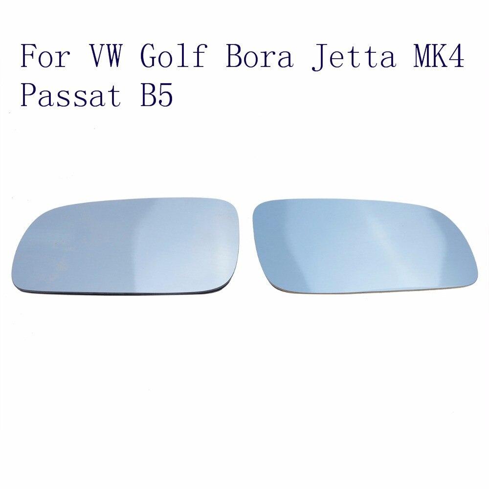 Rechts + Linke Seite Auto Wärme Spiegel Blau Getöntem Glas Für VW Golf 4 Sitz Jetta Bora MK4 Passat B5 B5.5 1997-2004 Plug And Play//