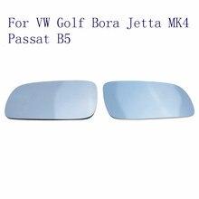 Правый + Левая Сторона Автомобиля Тепла Зеркало Синий Тонированные Стекла Для VW Golf 4 Сиденья Jetta Бора MK4 Passat B5 B5.5 1997-2004 Подключи И Играй//
