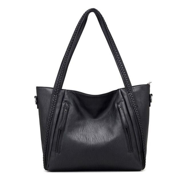Soft Leather Large Shoulder Bag 2