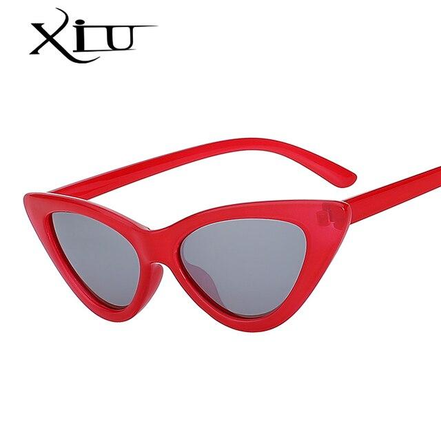 615c9daf1 XIU Mulheres Moda Olho De Gato Óculos de Design Da Marca Óculos De Sol  Retro Vintage