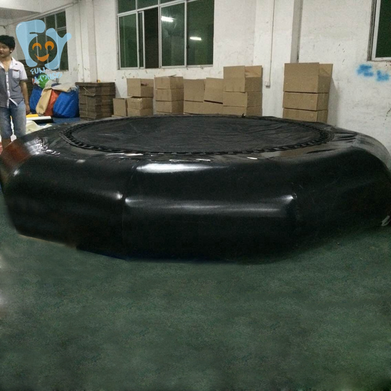 Trampolín inflable de agua Dia 3m trampolín inflable trampolines bungee mar trampolín flotante de China - 5