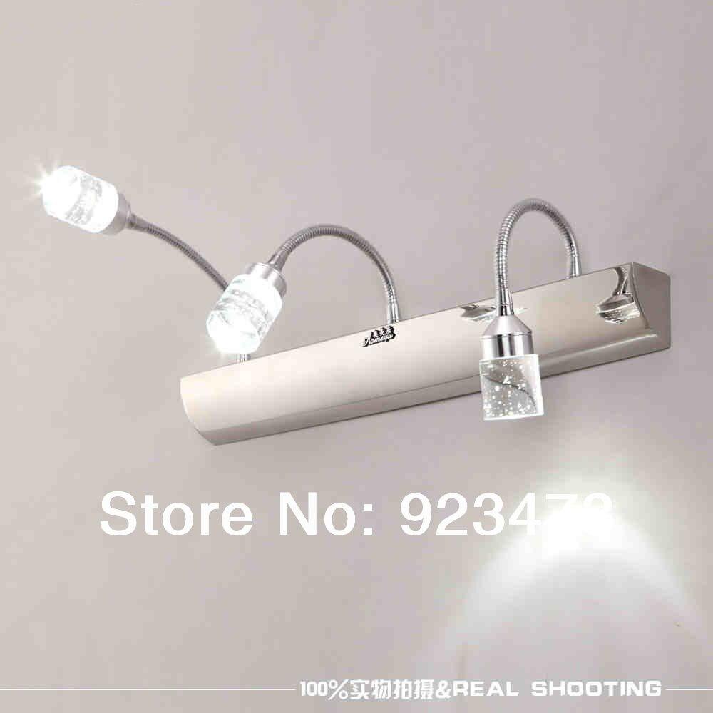 tienda online nueva novedad aplique de luz moderno led crystal mirror pared lmpara de iluminacin de luz para iluminacin de bao espejo led de la lmpara