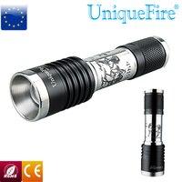 UniqueFire UF F17 U2 LED Flashlight 1200LM Led Bulb Torch Zoomable Led Lamp Flashlight f.1x18650 Battery Free Shipping