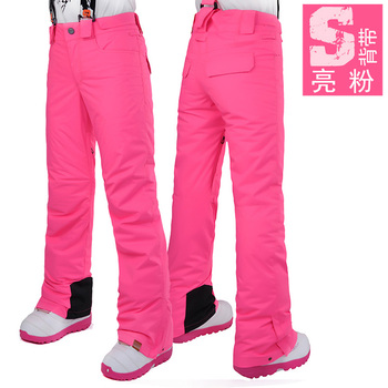 Gsou Snow2019 outdoor veneer women's straps ski pants winter windproof waterproof warm ski pants women's free shipping size XS-L