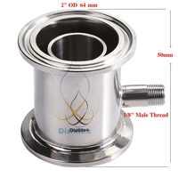 """Module de Rectification 2 """"OD64mm, colonne de Reflux, Distillation, acier sanitaire 304"""