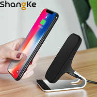 Wireless Charger Qi Fast charging bracket For iPhone 8 8 Plus X XS XR Phone Charger Pad Dock Station For Samsung S8 S9 Note8