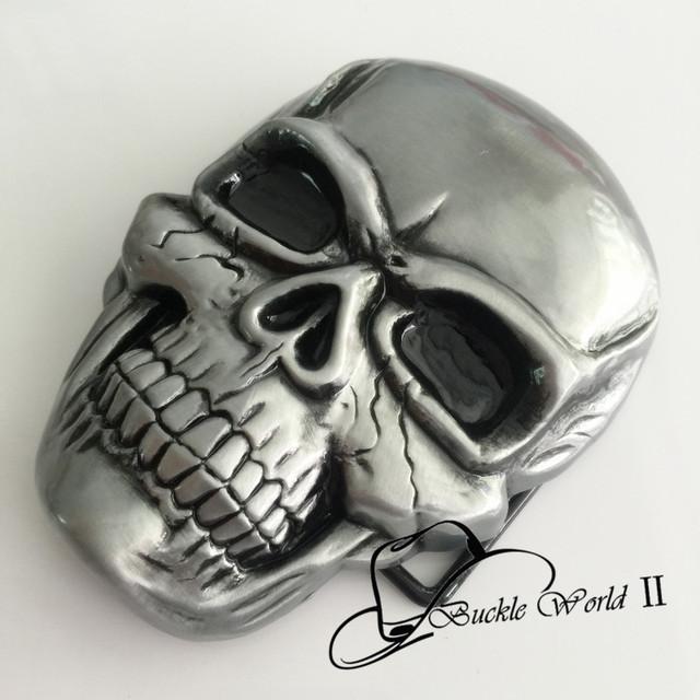 Skull Cowboy belt buckle