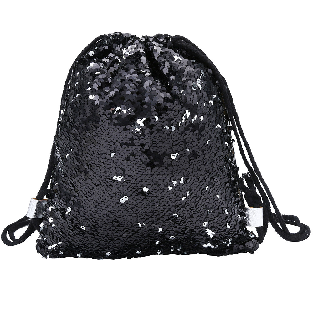 Detail Feedback Questions about Fashion Sequin Backpack Glittering Shoulder  Double Color Bling Bags Reversible Glitter Drawstring Backpacks Women Beach  Bags ... 55d43e7723ae
