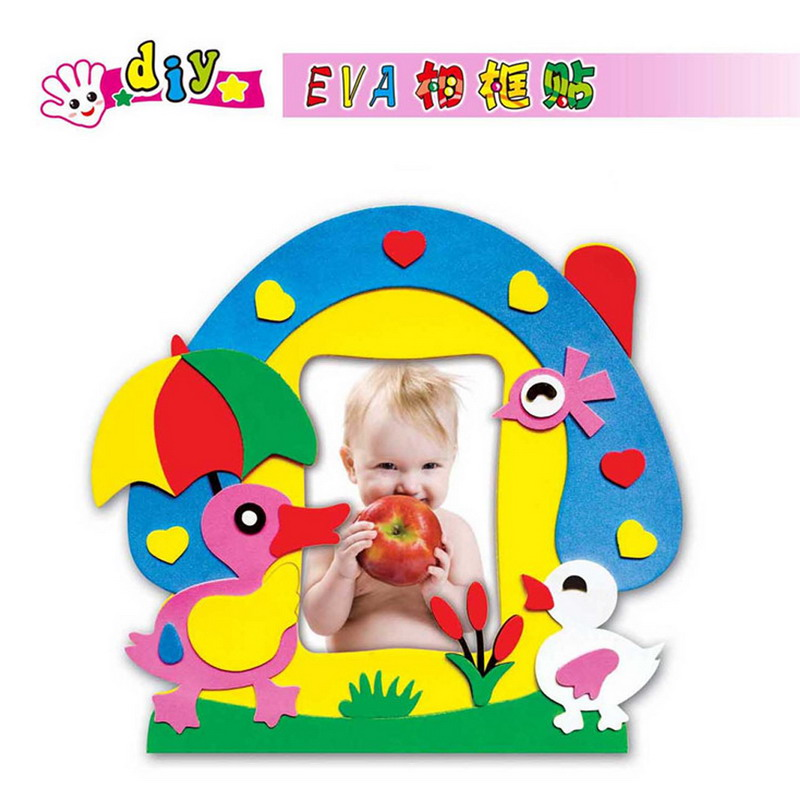 DIY EVA Foam Sticker Photo Frame Crafts Children Self adhesive Photo ...