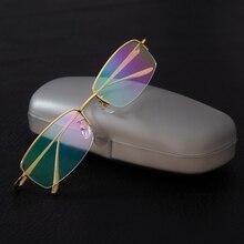 2c5fd2f1d4 Gafas de moda Unisex gafas de diseño conciso sin montura gafas de las  mujeres de los hombres de marca de nombre gafas óptica gaf.