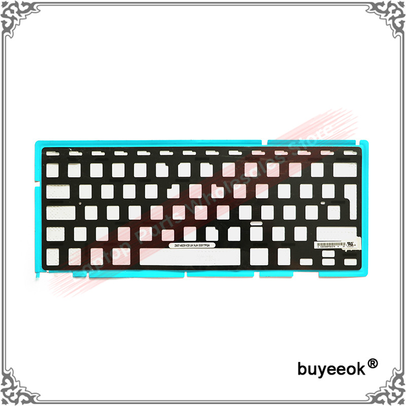 Original New A1297 Keyboard Black Cover Foil Backlight Paper for Macbook Pro Unibody 17 A1297 2009 2010 2011 2012 UK Layout brand new azerty fr french keyboard backlight backlit 100pcs keyboard screws for macbook pro 15 4 a1286 2009 2012 years