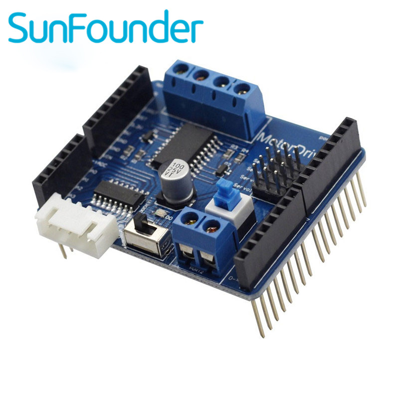 SunFounder Electronics DIY Motor Driver Shield Module L293D Expasion Board for Arduino