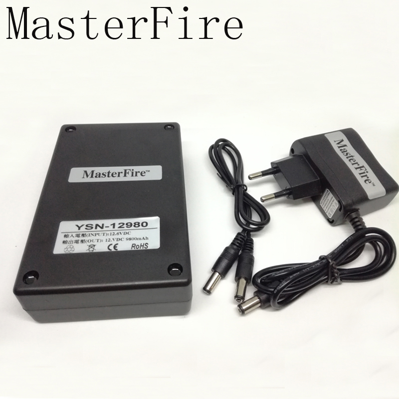 MasterFire New <font><b>DC</b></font> <font><b>12V</b></font> 9800mah Rechargeable Li-ion Lithium <font><b>Battery</b></font> <font><b>Batteries</b></font> <font><b>Pack</b></font> for CCTV camera YSN-12980 image