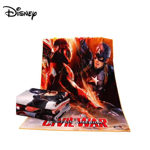 Disney digital druck bad handtuch Marvel Captain America 370*140 CM bad handtuch baumwolle cut samt bad handtuch-in Handtücher aus Mutter und Kind bei