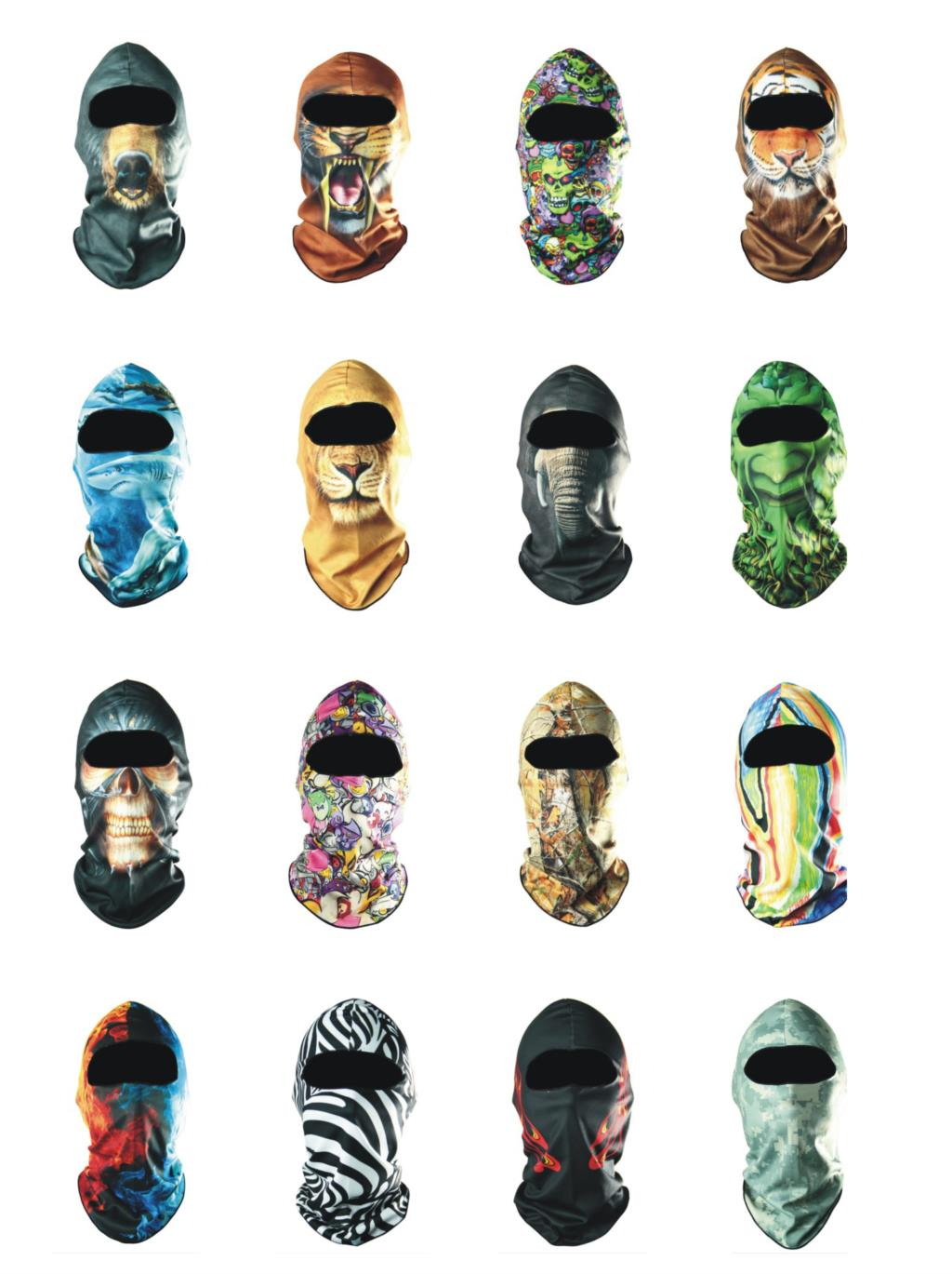 2017 Winter Hat New Sports Bicycle Cycling Motorcycle Masks Outdoor Ski Hood Veil Balaclava Face Cap 3d Animal Deadpool Mask