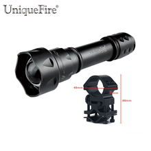 UniqueFire T20 Upgraded Zoomable LED flashlight IR 940nm 3 Mode Lamp Light Torch With Scope Mount Waterproof For Hunting Camping