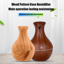 130ml USB Electric Aroma Air Diffuser Wood Ultrasonic Humidifier Essential Oil Aromatherapy Cool Mist Maker For Home